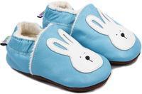 Capáčky kožené - sv. modré zajíček