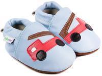 Capáčky kožené - sv.modré hasičský vůz vel. L, L (11,4cm - 12,7cm)