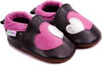 Capáčky kožené - srdce vel. 3XL, 3XL (15,5cm - 16,5cm)
