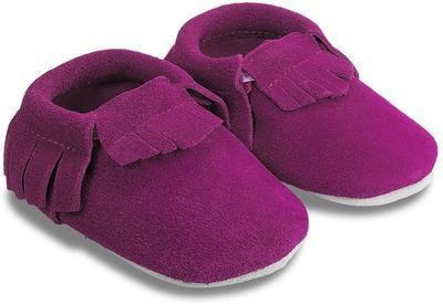 Kožené capáčky - purpurová
