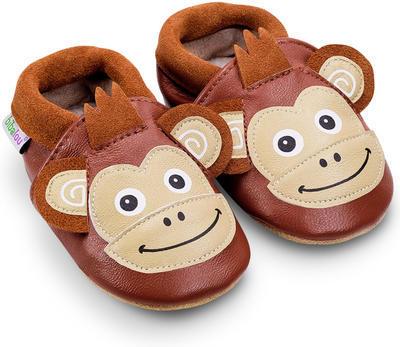 Capáčky kožené - opička Coco vel. 4XL, 4XL (16,8cm - 18cm)