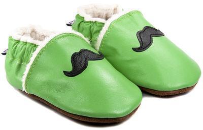 Capáčky kožené - zelené knír vel. XXL, XXL (14cm - 15,5cm)