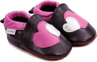 Capáčky kožené - srdce vel. XXL, XXL (14,0cm - 15,5cm)