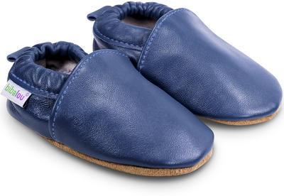 Capáčky kožené - UNI modré vel. XXL, XXL (14,0cm - 15,5cm)