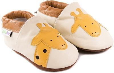 Capáčky kožené - žirafa vel. XXL, XXL (14cm -15,5cm)