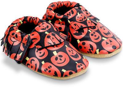 Kožené capáčky - Halloween vel. L, L (11,4cm - 12,7cm)