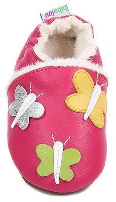 Capáčky kožené - růžové motýlci - 2