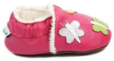 Capáčky kožené - růžové motýlci - 3
